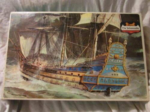 Vintage RARE Indomitable French Frigate SHIP Museum Quality Model Kit 143 800 | eBay