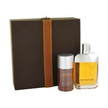 Davidoff Adventure by Davidoff Gift Set -- 3.4 oz Eau De Toilette Spray + 2.4 oz Deodorant Stick for Men by Davidoff. $64.95. Davidoff Adventure Set - 3.4 oz EDT Spray + Deodorant 2.4 oz - Mens. Davidoff Adventure by Davidoff Gift Set -- 3.4 oz Eau De Toilette Spray + 2.4 oz Deodorant Stick for Men This is a woody fragrance composed by perfumer Antoine Lie for men who love to travel and was inspired by nature.  Notes are mandarin, lemon, bergamot, black sesame, pimiento, mat