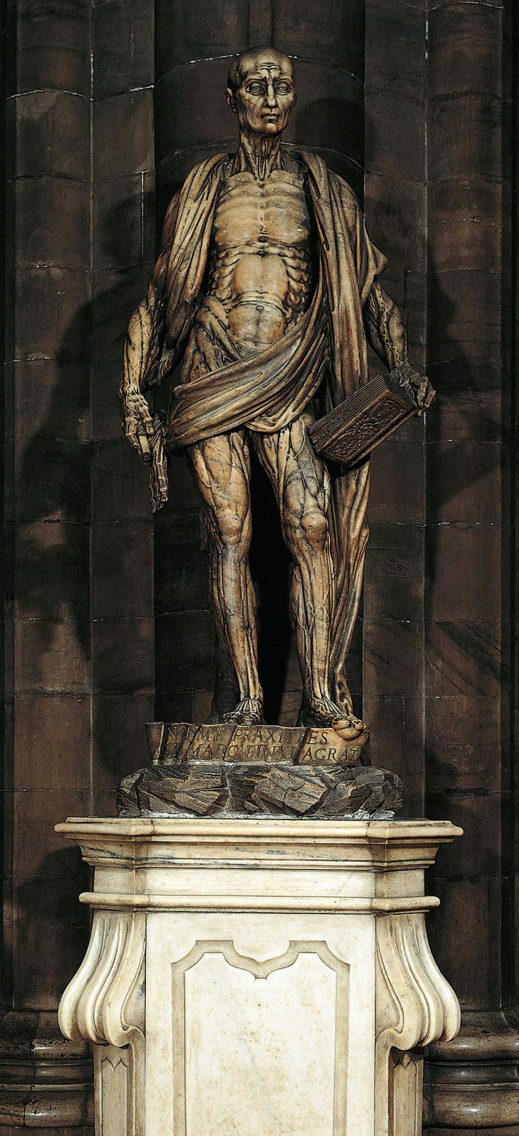 The Statue of St. Bartholomew in the #Milan #Cathedral ...