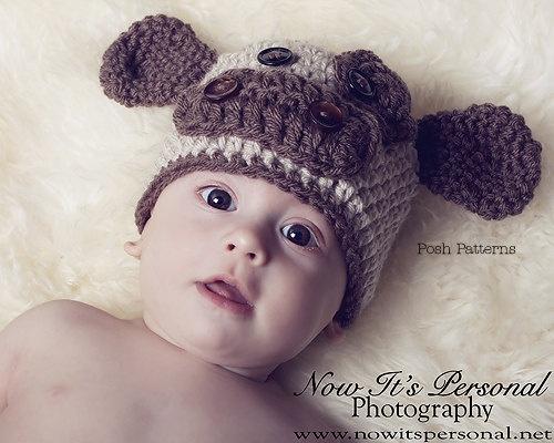 Crochet Pattern Cow Hat : Crochet PATTERN - Crochet Baby Hat Pattern - Baby Cow Hat ...
