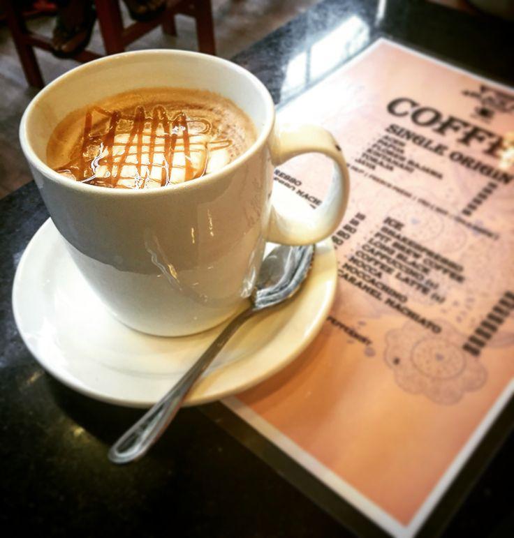 Salted Caramel Hot #latte #coffee #blackpitcoffee #bali #indonesia