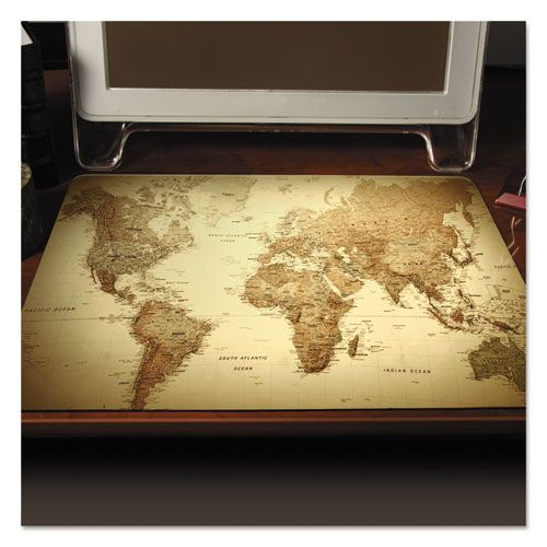 172 best cool products on snapsupplies images on pinterest trendsetter world map desk pad 24 x 19 golden snapsupplies gumiabroncs Images