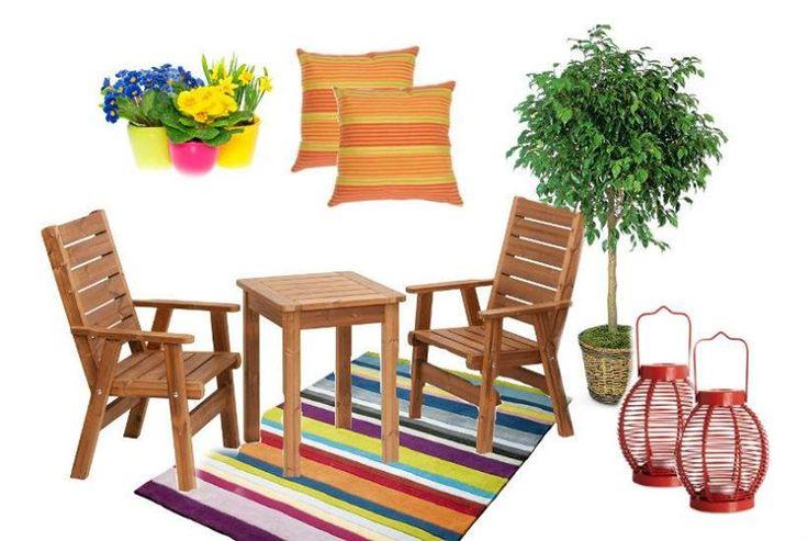 S malým zahradním nábytkem a arevnými doplňky proměníte i panelákový balkón na útulné místečko pro odpočinek. Více info o zahradním nábytku na http://goo.gl/K3gQ37