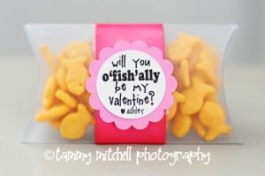 O 'fish' ally be mine valentine idea!