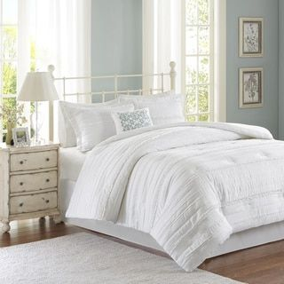 Madison Park Isabella White Comforter Set | Overstock.com Shopping - The Best Deals on Comforter Sets