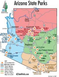 Arizona State Parks Color Locator Map Check ANNUAL PASS if you want **Maricopa County Annual Pass: http://www.maricopa.gov/parks/PDF/brochure/2014%20Annual%20Pass%20Brochure.pdf