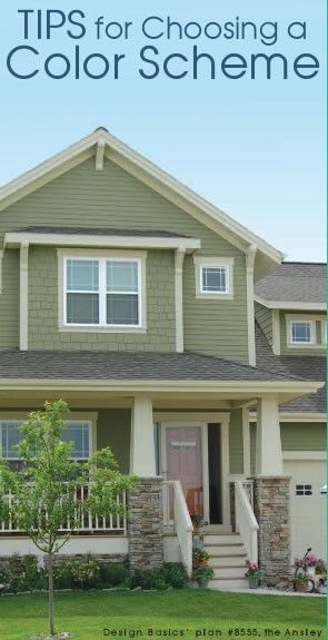 Curb Appeal Starts with the Exterior Paint and Trim. How to Choose the right Color Scheme. I like green!!