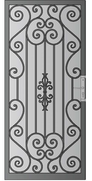 Security Screen Doors : Great Gates and Whiting Iron in Phoenix AZ   The Valley's Leader In Premium Architectural Iron Products