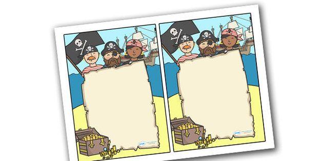 http://www.twinkl.co.uk/resource/t-c-245-editable-note-from-teacher-pirate-themed: Maritimes Klassenzimmer, Klassenraum Deko, Piraten, Notiz, Blatt, Formular, editierbar, Willkommensbrief für neue Schüler