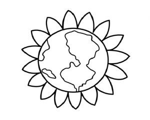 Earth Day Flower Coloring Pages