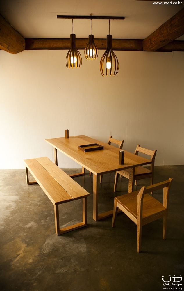 Oak Dining table for six