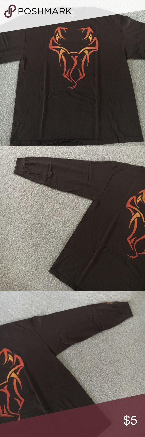 WWE Randy Orton The Viper Long Sleeve Shirt Men 2X Authentic WWE merchandise.  No rips, tears or stains, from a smoke free home.  Worn and washed, a bit faded but still has plenty of wear.  Old school design! WWE Shirts Tees - Long Sleeve
