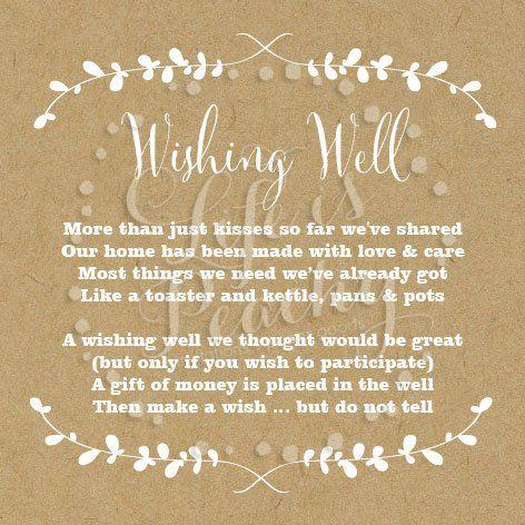 about Wishing Well Poems on Pinterest Wishing well wedding, Weddings ...