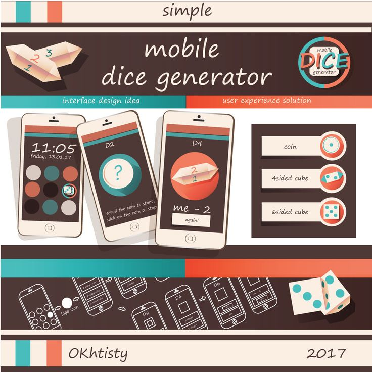 "Check out my @Behance project: ""Mobile dice generator"" https://www.behance.net/gallery/47546117/Mobile-dice-generator"