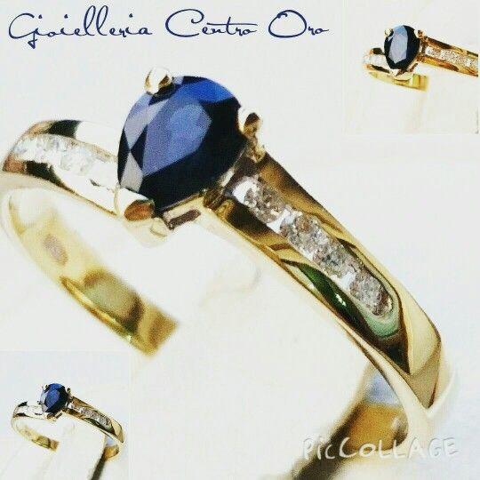 Anello in oro giallo 18 k 750 con Zaffiro goccia e diamanti.   Lo trovate nella nostra gioielleria online.  #gioielleriacentrooro #gioielli #jewels #jewelry #jewellery #store #diamonds #diamanti #oro18kt #18kgold #ring #zaffiro #goccia #diamonds #diamanti #saphir #engagment #ring #pear #blue #blu #natural #gioielli #store #ebay #summer15 #diamonds #diamanti #ebayitalia #ebay Bay. Fr #gioielleriacentrooro #gioielli #ituoiregali #click