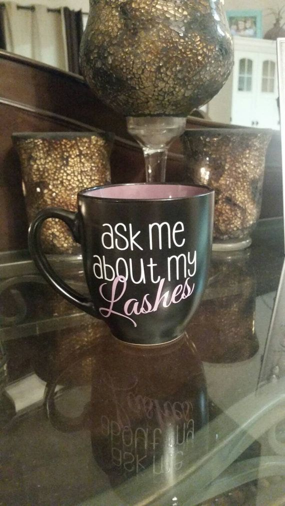Ask Me About My Lashes 16oz Coffee Mug by CreationsbyAmyLuke