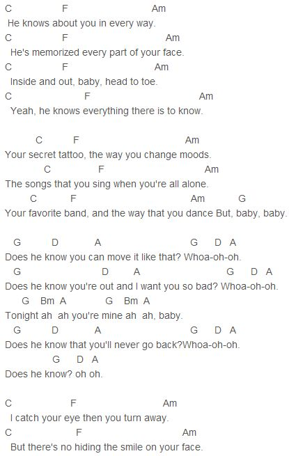 Ukulele little things ukulele tabs : 1000+ images about 1D Chords on Pinterest | Story of my life, One ...