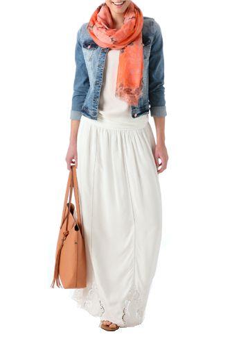 4 estilos con falda larga. Colección de verano Promod: 4 estilos con falda larga
