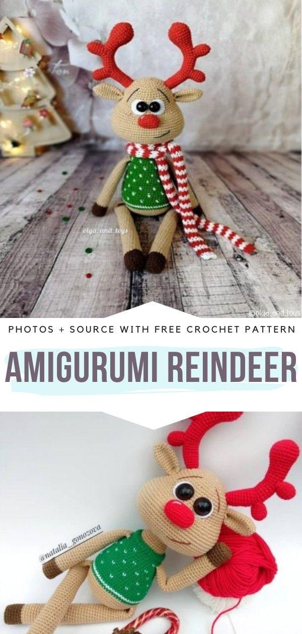 Amigurumi Christmas Reindeer Free Crochet Pattern   1260x600