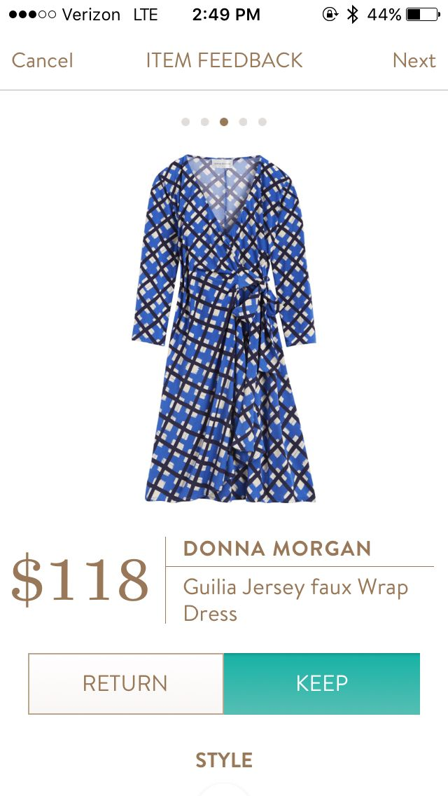 This is a great fit! Donna Morgan Guilia Jersey Faux Wrap Dress