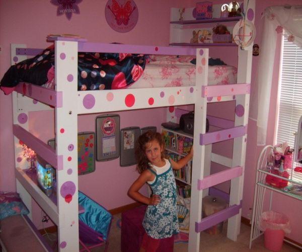 girl loft bed | ... Loft Beds for the Bedroom: Youth Girl Cool Loft Beds – Quakerrose