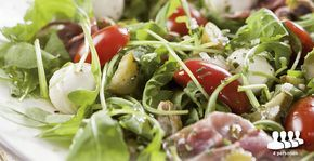 Salade serranoham met pistachenoten