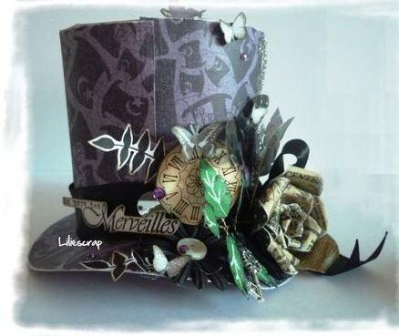Chapeau pour d co de table ou urne de mariage th me - Theme alice au pays des merveilles decoration ...