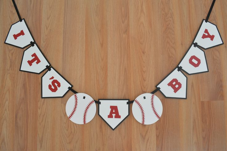 Baseball It's a Boy Banner - Baseball theme - Baseball Baby Shower - Baseball…