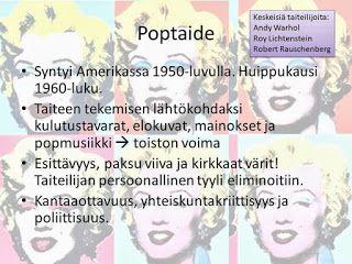 KU 1 - Minä, kuva ja kulttuuri: Taidehistoria - Poptaide