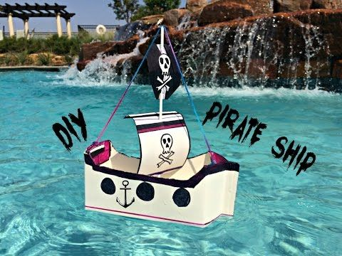 Make a Floating Pirate Ship – out of Recyclables! | Milk & Cuddles
