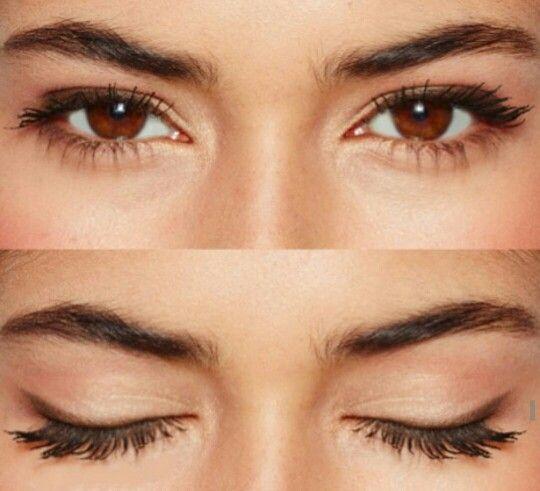 soft brown eyeliner for brown eyes