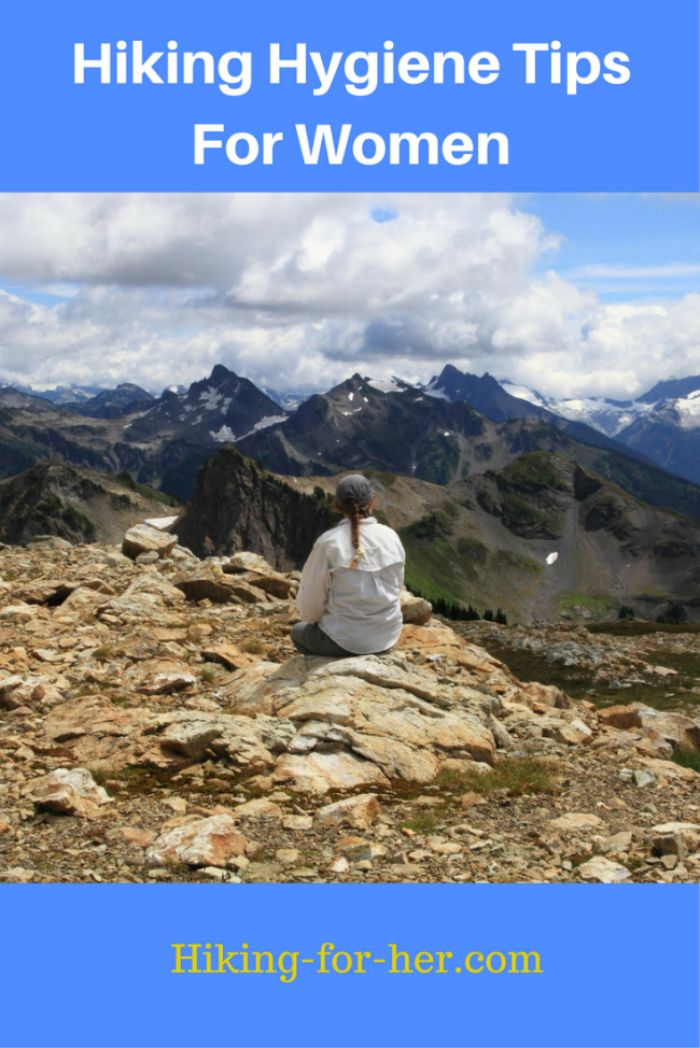 Hiking hygiene tips for women include how to handle body fluids and lots more on a hiking trail!