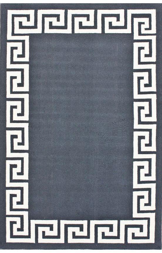 handmade luna greek key wool rug x overstock