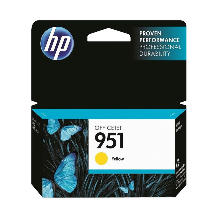 HP 951 Officejet Printer Ink Cartridge - Yellow (CN050AN140)