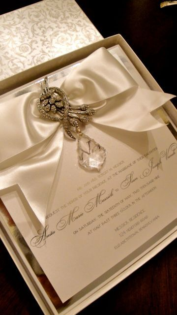 Show Stopping Boxed Wedding Keepsake Invitations for the beautiful!