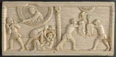 Plaque : Sacrifice de Caïn et Abel ; Meurtre d'Abel et malédiction de Caïn | Musée du Louvre | Paris