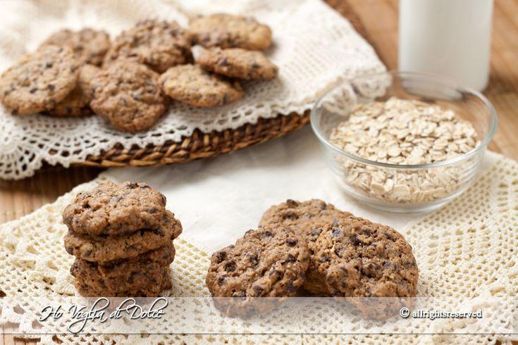 Biscotti avena e cioccolato