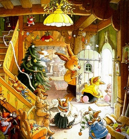 Жили-были кролики. Истории папы кролика.   Рождественская сказка  Счастливого Рождества!  Женевьева Юрье и Лоик Жуанниго