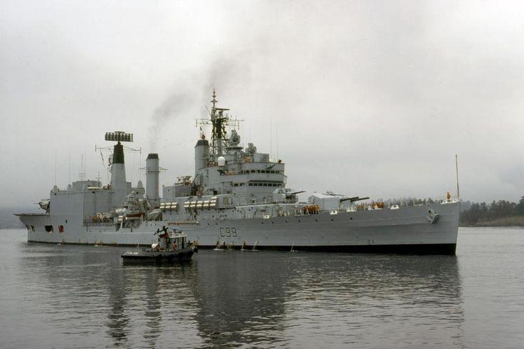 HMS Blake after her refit