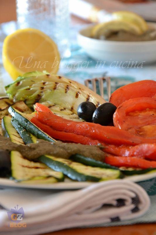 Verdure grigliate con tapenade alla senape