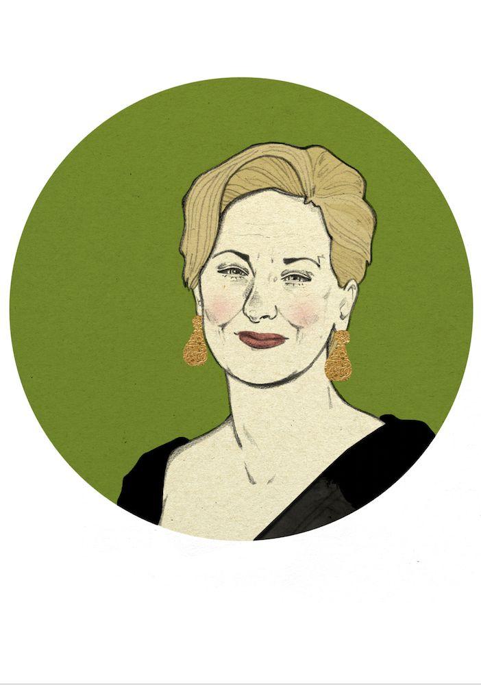 Meryl Streep by Magdalena Pankiewicz