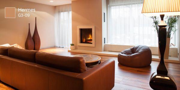 Usar sólo un #COLOR podría darle un efecto cálido y elegante a tu habitación ¿no lo crees?