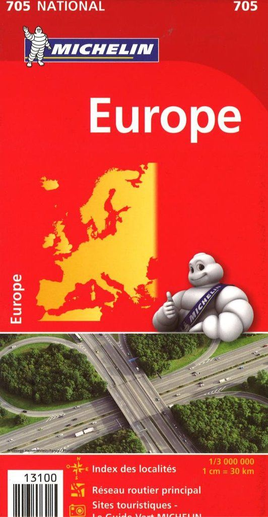 Buy map: Europe (705) by Michelin Maps and Guides – YellowMaps Map Store