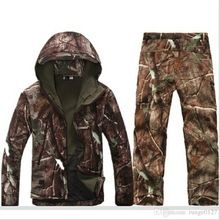 Tactical Softshell Hunting Sets Mens Sport Waterproof Hunting Clothes Winter Fishing Hunting Waterproof Breathable Hunting Sets