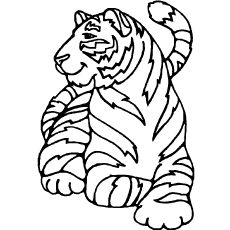 Top 20 Free Printable Tiger Coloring Pages Online Animal Coloring Pages Zoo Coloring Pages Butterfly Coloring Page