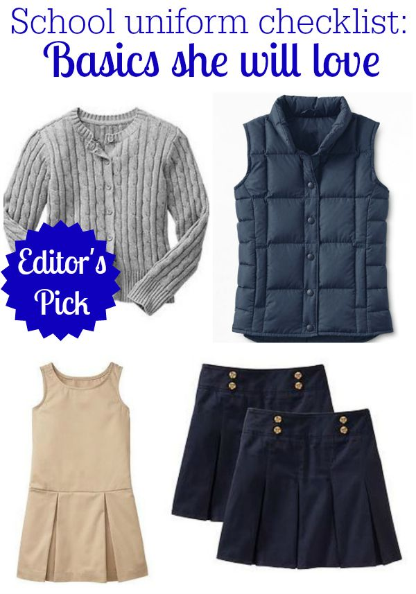 All about school uniforms: A checklist for fall - Savvy Sassy Moms #weePLAN