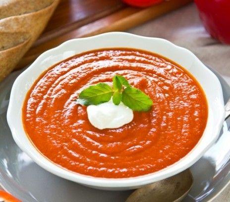 Zupa krem z pomidorów i papryki - Przepisy. Zupa krem z pomidorów i papryki to przepis, którego autorem jest: Magda Gessler