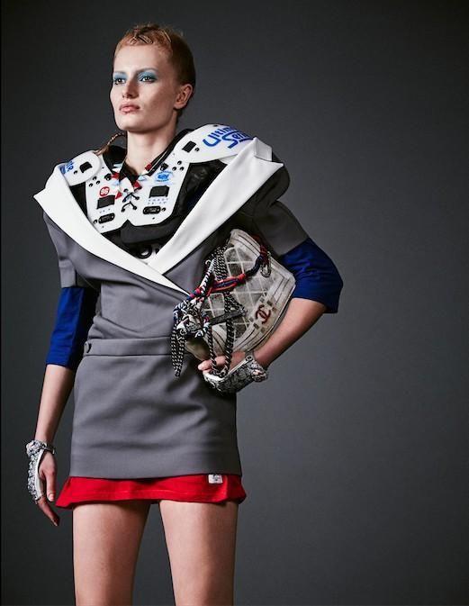The Nylon Magazine April 2014 Photoshoot Stars Stephanie Hall #football #fashion trendhunter.com