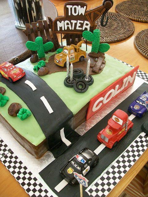 Fabulous Cars birthday cake #Cars #Disney #cake