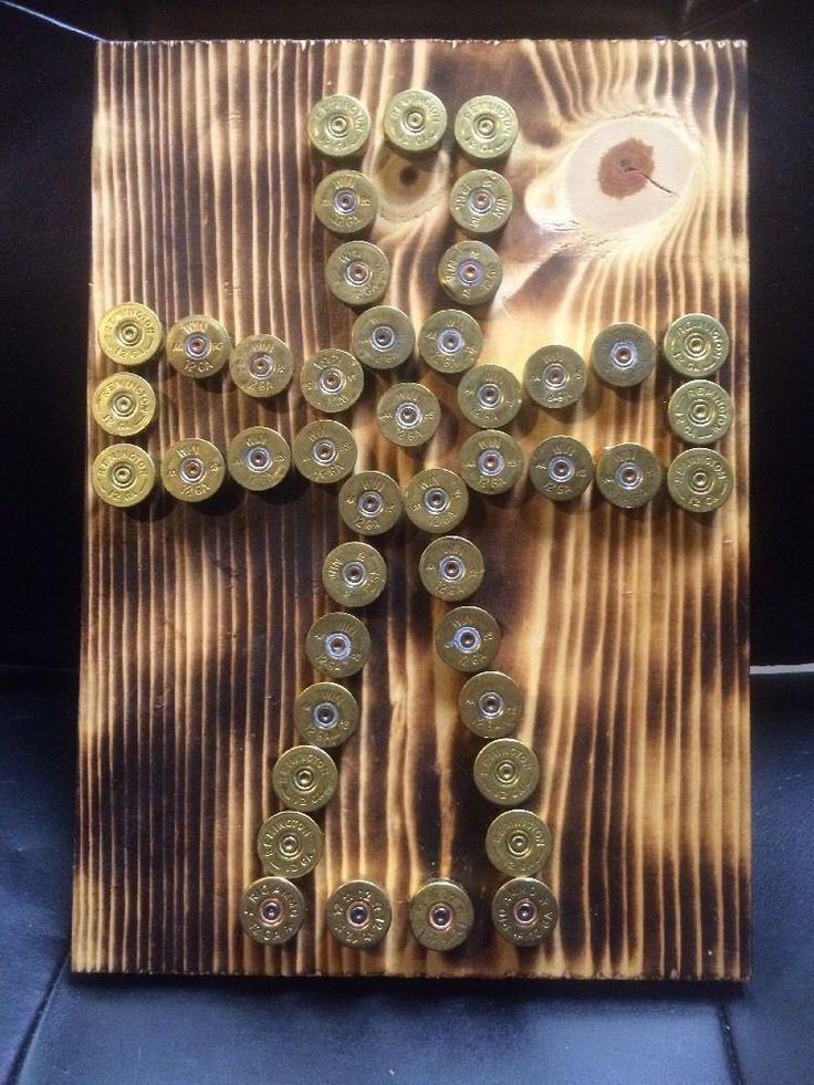 Handmade Shotgun Shell Ammo Art Cross Design | eBay